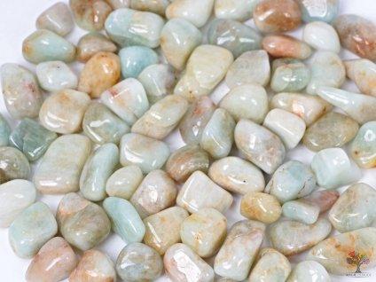Tromlované kamínky Akvamarín L - kameny o velikosti 30 - 50 mm - 100g - Brazílie