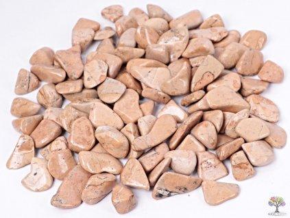 Tromlované kamínky Jaspis sopečná brekcie L - kameny o velikosti 25 - 50 mm - 500g - Peru
