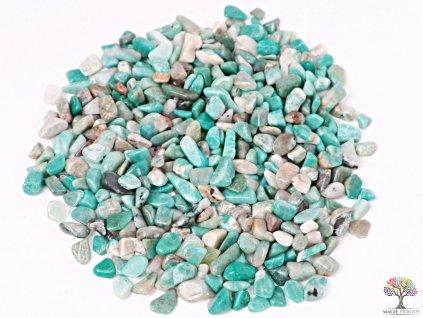 Tromlované kamínky Amazonit XS - kameny o velikosti 8 - 20 mm - 500g - Brazílie  + až 10% sleva po registraci