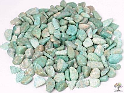 Tromlované kamínky Amazonit M - kameny o velikosti 20 - 30 mm - 100g - Brazílie  + až 10% sleva po registraci