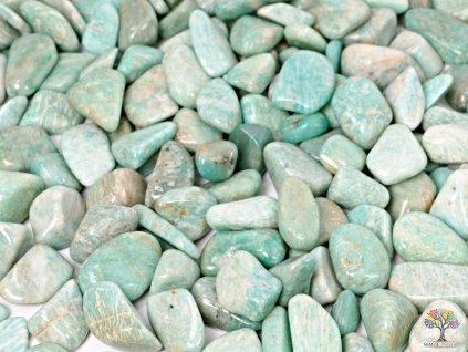 Tromlovaný kámen Amazonit M velikost 20 - 30 mm - Brazílie #13