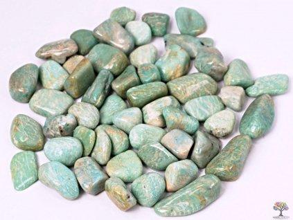 Tromlované kamínky Amazonit L - kameny o velikosti 25 - 45 mm - 100g - Brazílie