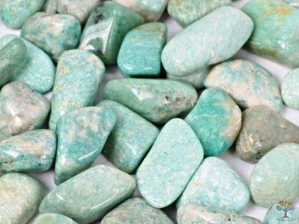 Tromlovaný kámen Amazonit XL velikost 30 - 50 mm - Brazílie #15