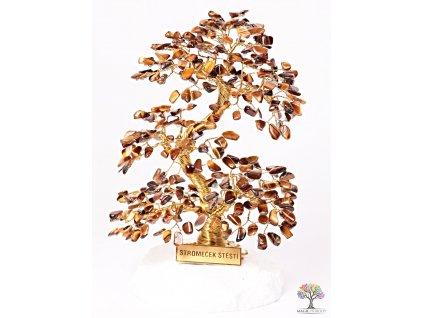 Tygří oko stromeček štěstí 20 cm - A4 - #129  + sleva 5% po registraci na většinu zboží + dárek k objednávce