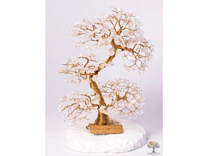 Křišťál stromeček štěstí 20 cm - A4 - #130