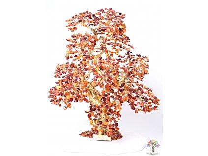 Jantar stromeček štěstí  - bonsai - 45 cm - D18 + dárkové balení #140