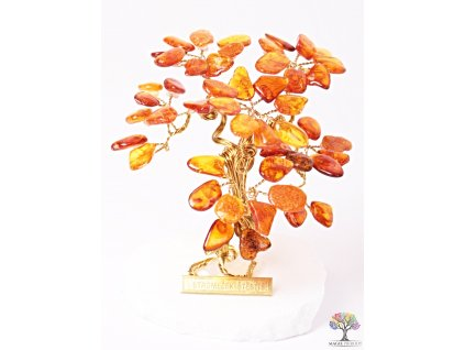 Jantarový stromeček štěstí 9 cm - R3 - #143