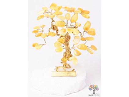 Jantarový stromeček štěstí 9 cm - R3 - #151
