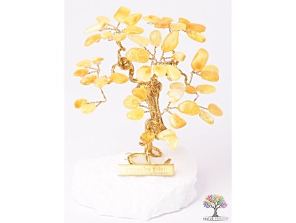 Jantarový stromeček štěstí 9 cm - R3 - #151  + až 10% sleva po registraci