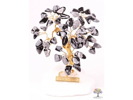 Obsidiánový stromeček štěstí 9 cm - R3 - #153