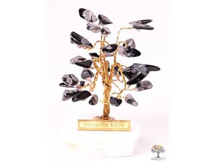 Obsidiánový stromeček štěstí 6 cm - R0 - #157  + sleva 5% po registraci na většinu zboží + dárek k objednávce