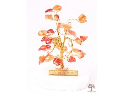 Karneolový stromeček štěstí 6 cm - R0 - #163