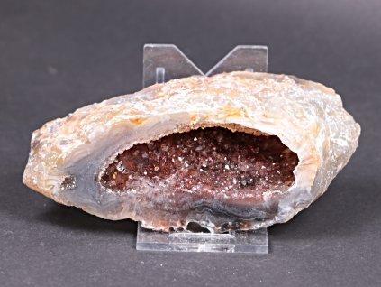 Achát peříčkový 11 cm - geoda - Top kvalita - #216