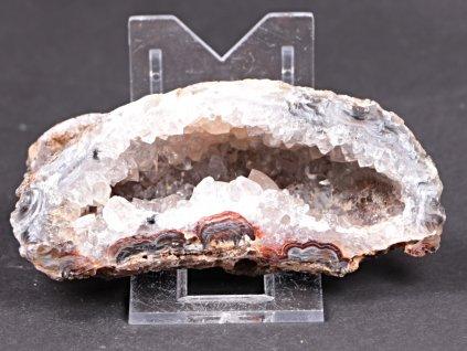 Achát peříčkový 10 cm - geoda - Top kvalita - #235  + až 10% sleva po registraci