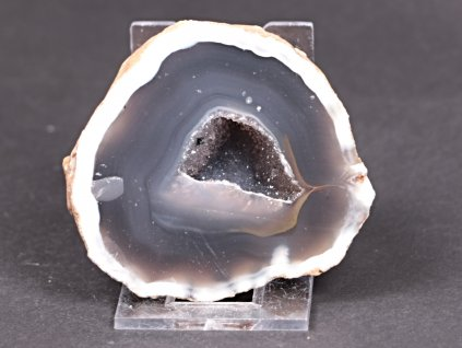 Achát peříčkový 7 cm - geoda - Top kvalita - #236