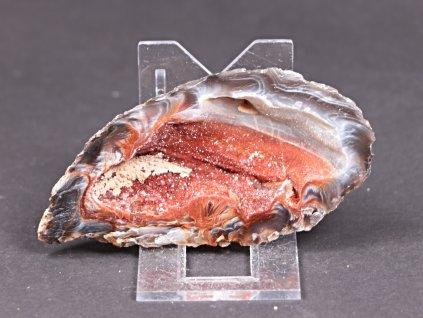 Achát peříčkový 9 cm - geoda - Top kvalita - #238