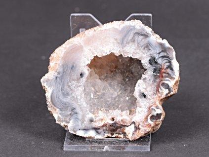 Achát peříčkový 7 cm - geoda - Top kvalita - #242