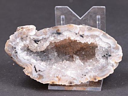 Achát peříčkový 9 cm - geoda - Top kvalita - #246  + až 10% sleva po registraci