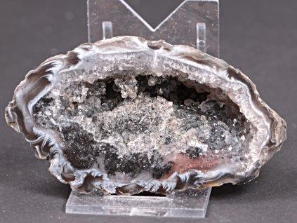 Achát peříčkový 8 cm - geoda - Top kvalita - #279