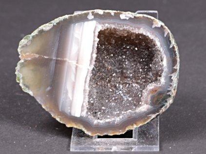 Achát peříčkový 8 cm - geoda - Top kvalita - #307  + až 10% sleva po registraci