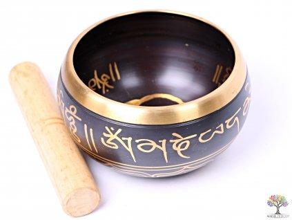 Tibetská miska - zpívající mísa 14 cm - 600 g s paličkou #113
