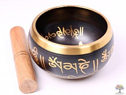 Tibetská miska - zpívající mísa 14 cm - 640 g s paličkou #117  + až 10% sleva po registraci