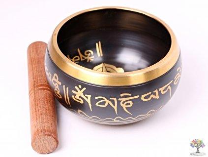 Tibetská miska - zpívající mísa 14 cm - 670 g s paličkou #118
