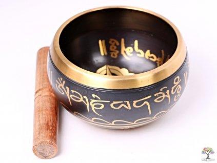 Tibetská miska - zpívající mísa 14 cm - 660 g s paličkou #120