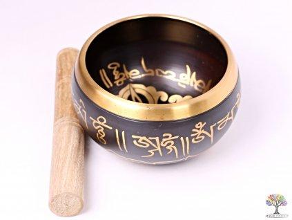 Tibetská miska - zpívající mísa 14 cm - 680 g s paličkou #122  + až 10% sleva po registraci