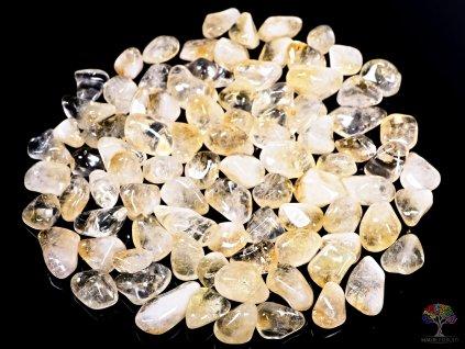 Tromlované kamínky Citrín M o velikosti 20 - 30 mm - 100g - Brazílie  + až 10% sleva po registraci