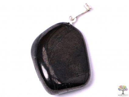 Přívěsek z kamene Šungit vel. M - #05  + sleva 5% na vše po registraci