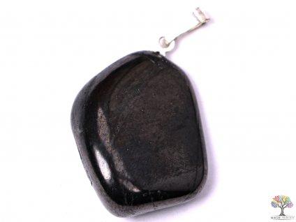 Přívěsek z kamene Šungit vel. M - #05