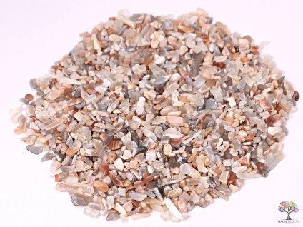 Tromlované kamínky Měsíční kámen XXS - kameny o velikosti 3 - 8 mm - 100g - Brazílie  + sleva 5% na vše po registraci