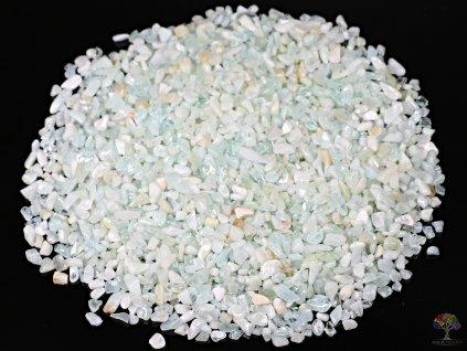 Tromlované kamínky Akvamarín XXS - kameny o velikosti 3 - 8 mm - 100g - Brazílie  + sleva 5% po registraci na většinu zboží + dárek k objednávce