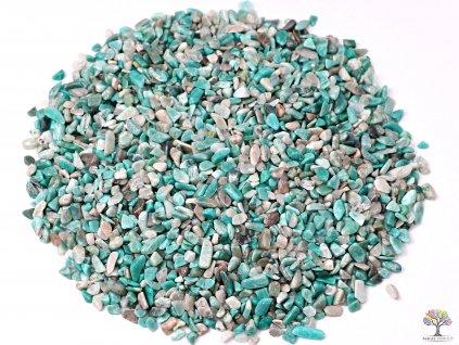 Tromlované kamínky Amazonit XXS - kameny o velikosti 3 - 8 mm - 100g - Brazílie  + sleva 5% po registraci na většinu zboží + dárek k objednávce