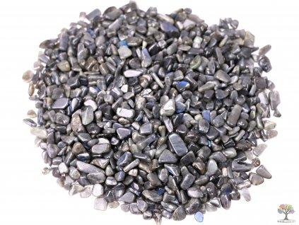 Tromlované kamínky Labradorit XXS - kameny o velikosti 5 - 12 mm - 100g - Brazílie