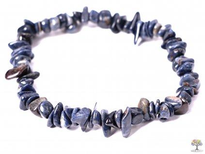 Náramek Safír tromlovaný #222 - z přírodních kamenů  + sleva 5% po registraci na většinu zboží + dárek k objednávce