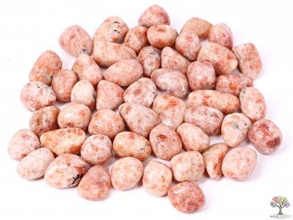 Tromlované kamínky Sluneční kámen L - kameny o velikosti 25 - 40 mm - 500g - Indie  + až 10% sleva po registraci