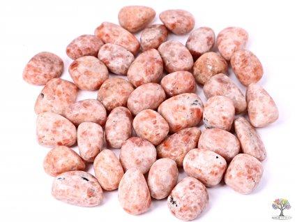 Tromlované kamínky Sluneční kámen XL - kameny o velikosti 30 - 45 mm - 100g - Indie  + sleva 5% na vše po registraci