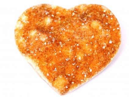 Citrín drúza Srdce - Top kvalita - 482g #09  + sleva 5% na vše po registraci