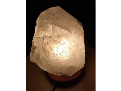 Křišťál přírodní - LAMPA - lampa ze surového křišťálu - 5.2 kg