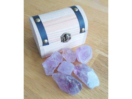 Magická truhlička s krystaly ametystu - #01