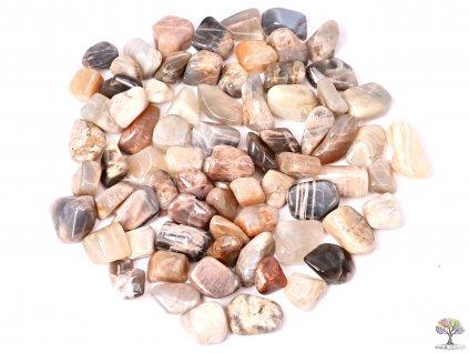 Tromlované kamínky Měsíční kámen M - kameny o velikosti 20 - 35 mm - 100g - Brazílie  + až 10% sleva po registraci