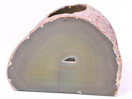 Svícen na svíčku - Achát přírodní - 1.040 kg - #273  + sleva 5% po registraci na většinu zboží + dárek k objednávce