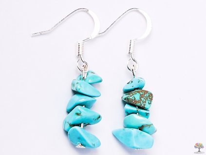 Náušnice z kamene Tyrkenit #13  + sleva 5% po registraci na většinu zboží + dárek k objednávce