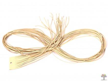 Plochý kožený řemínek - krémový 110 cm / 2 mm #01  + až 10% sleva po registraci