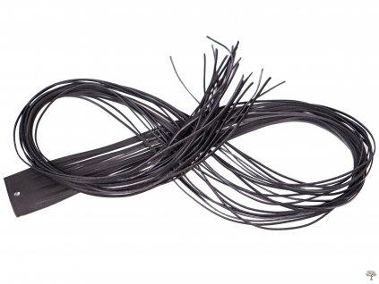 Plochý kožený řemínek - černý 110 cm / 2 mm #02  + sleva 5% po registraci na většinu zboží + dárek k objednávce