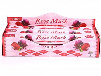 Vonné tyčinky Tulasi Rose Musk - 20 ks - #63  + sleva 5% po registraci na většinu zboží + dárek k objednávce