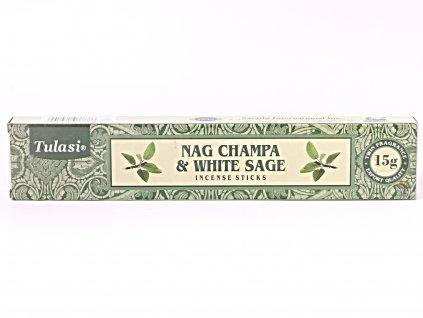 Vonné tyčinky Tulasi Premium Nag Champa White sage - 12 ks - #65  + sleva 5% po registraci na většinu zboží + dárek k objednávce