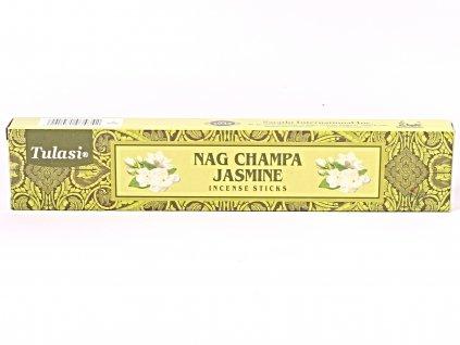 Vonné tyčinky Tulasi Premium Nag Champa Jasmine - 12 ks - #66  + až 10% sleva po registraci